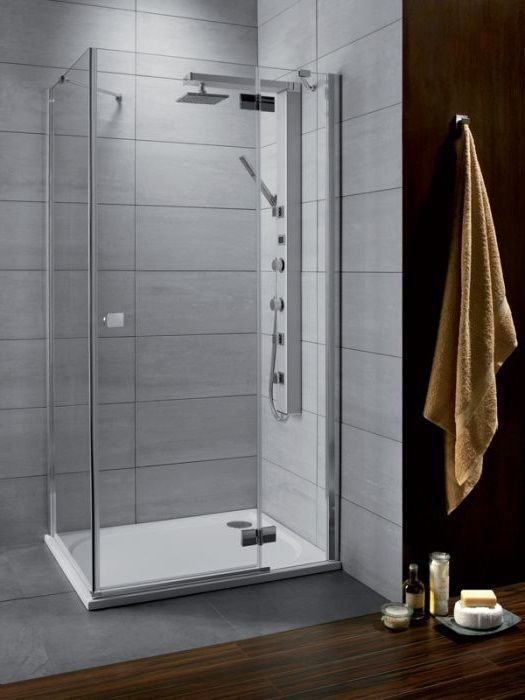 RADAWAY Almatea KDJ 120 J*×80 aszimmetrikus zuhanykabin 1200x800x1950 mm / jobb, jobbos / 12 intimo üveg / 32141-01-12NR