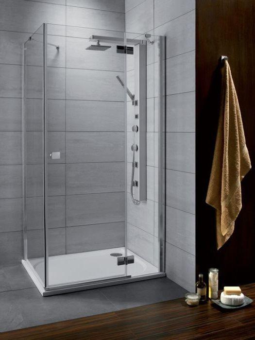 RADAWAY Almatea KDJ 90 J*×80 aszimmetrikus zuhanykabin 900x800x1950 mm / jobb, jobbos / 08 barna üveg / 32148-01-08NR