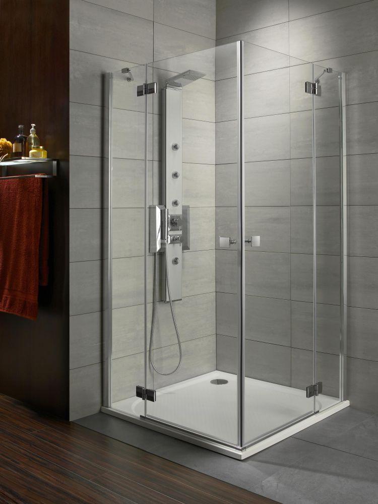 RADAWAY Almatea KDD 80B×90J szögletes zuhanykabin 900x800x1950 / 12 intimo üveg / 32187-01-12N