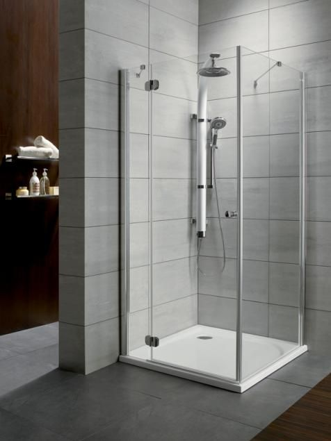 RADAWAY Torrenta KDJ 80 B × 80 szögletes zuhanykabin 800x800x1850 mm / bal, balos / 05 grafit üveg / 32212-01-05NL
