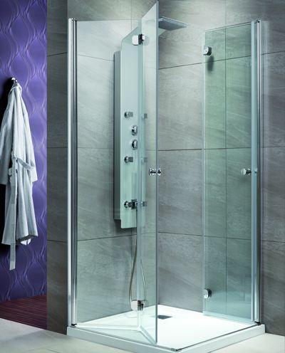 RADAWAY EOS KDD-B 80 szögletes / négyzet alapú zuhanykabin 800x800x1970 mm /12 intimo üveg / 37313-01-12N