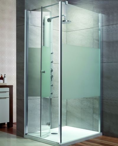 RADAWAY EOS KDJ-B szögletes/ négyzet alapú zuhanykabin 800x800x1970 mm bal / balos / 12 intimo üveg / 37413-01-12NL
