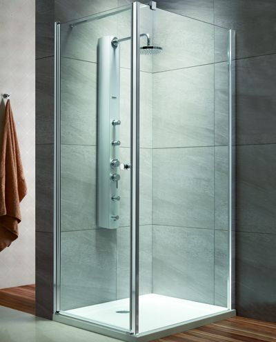 RADAWAY EOS KDJ 80 B×100 szögletes / négyzet alapú zuhanykabin 800x1000x1970 mm bal / balos / 12 intimo üveg / 37543-01-12NL