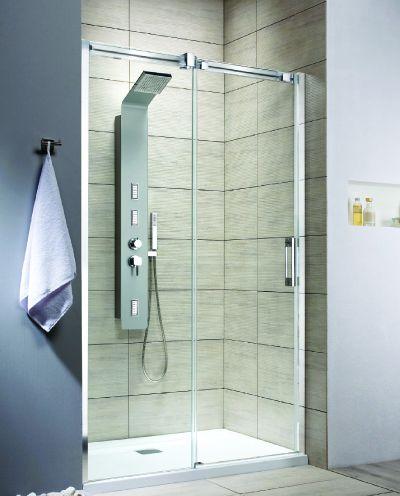 RADAWAY Espera DWJ 100 B tolóajtós zuhanyajtó / AJTÓ 1000x2000 mm bal / balos / 01 átlátszó üveg / 380110-01L