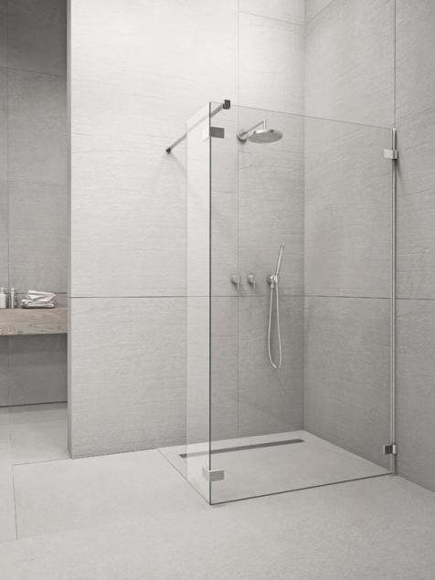 RADAWAY Euphoria W2 90 zuhanykabin FAL / ZUHANYFAL 875-885x2000 mm / 01 átlátszó üveg / 383121-01-01