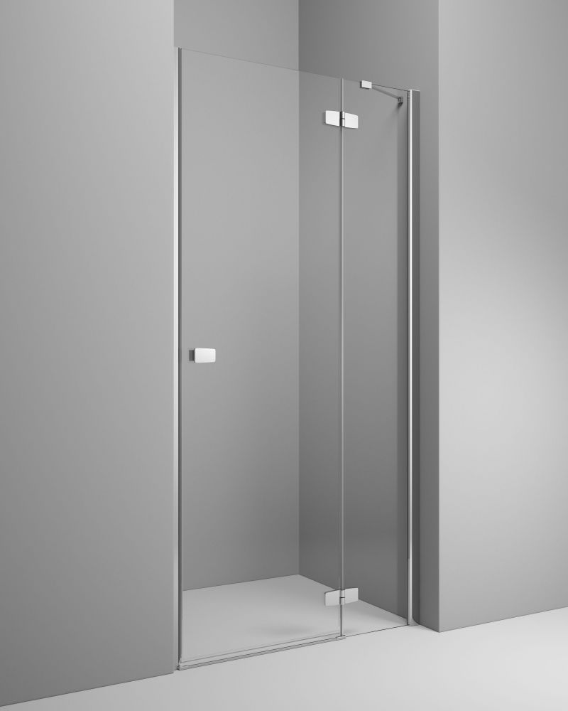 RADAWAY Fuenta New DWJ 100 J jobb / jobbos szögletes zuhanykabin 990-1010x2000 mm / 01 átlátszó üveg / 384014-01-01R + Króm küszöb