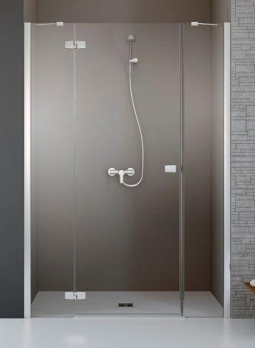 RADAWAY Fuenta New DWJS 120 J jobb / jobbos szögletes zuhanykabin 1185-1215x2000 mm / 01 átlátszó üveg / 384031-01-01R + Króm küszöb