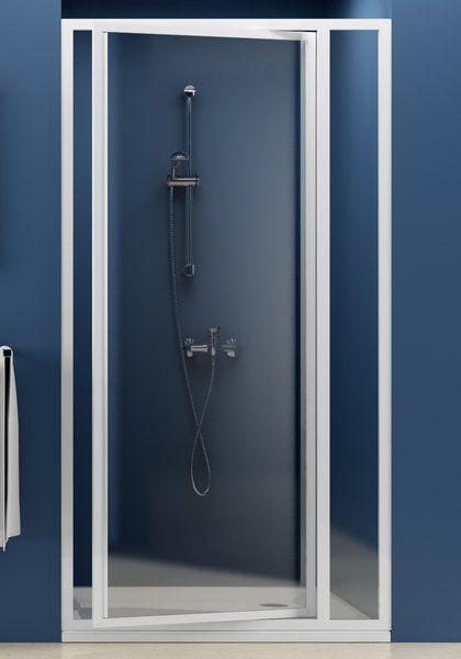 RAVAK SUPERNOVA SDOP-100 kifelé nyíló zuhanyajtó fehér kerettel / PEARL műanyag / plexi betétlemez, 100 cm-es / 03VA010011