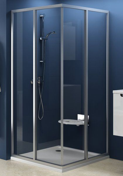 RAVAK SUPERNOVA sarokbelépős zuhanykabin SRV2-100 S, fehér kerettel / TRANSPARENT edzett biztonsági üveggel, kételemes tolórendszerű ajtóval, 100 cm / 14VA0102Z1