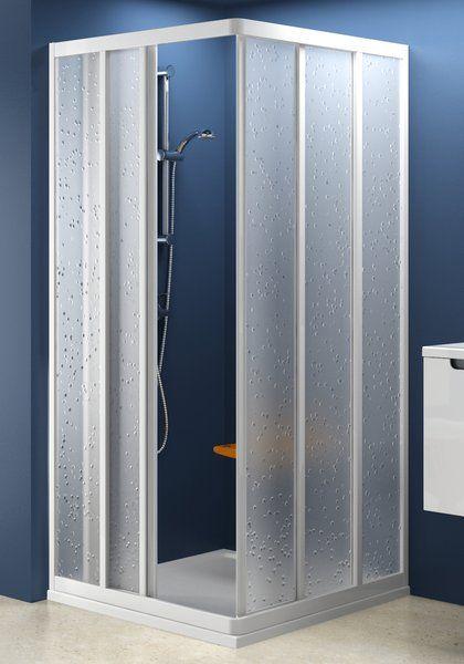 RAVAK SUPERNOVA sarokbelépős zuhanykabin ASRV3-75, fehér kerettel / GRAPE edzett biztonsági üveggel, háromelemes tolórendszerű ajtóval, 75 cm / 15V30102ZG