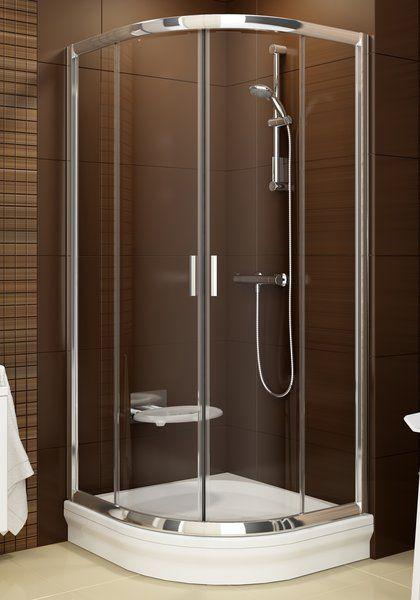 RAVAK Blix BLCP4-90 négyrészes negyedköríves tolóajtós zuhanykabin  fényes alumínium (alu) kerettel / TRANSPARENT edzett biztonsági üveggel  90 cm / 3B270C00Z1