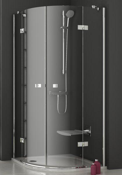 RAVAK SmartLine SMSKK4-80 Negyedköríves négyrészes zuhanykabin króm zsanérral / TRANSPARENT edzett biztonsági üveggel 80 cm / 3S244A00Y1