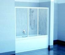 RAVAK SUPERNOVA AVDP3-150 háromrészes tolórendszerű kádparaván, fehér kerettel / RAIN műanyag (plexi) betétlemez, 150 cm-es / 40VP010241