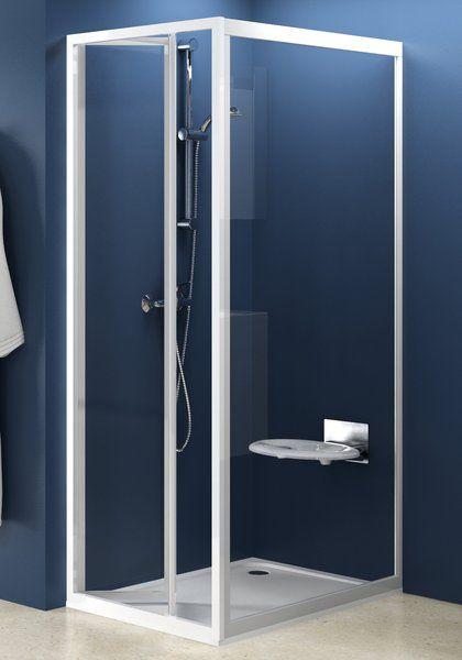 RAVAK SUPERNOVA PSS-80 fix zuhanykabin oldalfal fehér kerettel / TRANSPARENT edzett biztonsági üveggel, 80 cm / 94040100Z1