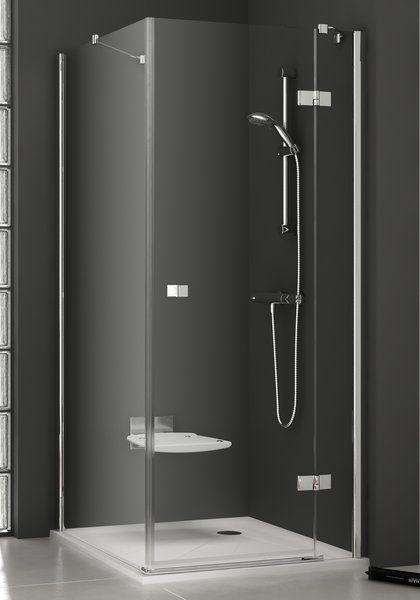 RAVAK SmartLine SMPS 80 Fix balos oldalfal SMSD2 zuhanyajtóval való kombinálásra króm zsanérral / TRANSPARENT edzett biztonsági üveggel 80 cm / 9SL40A00Z1