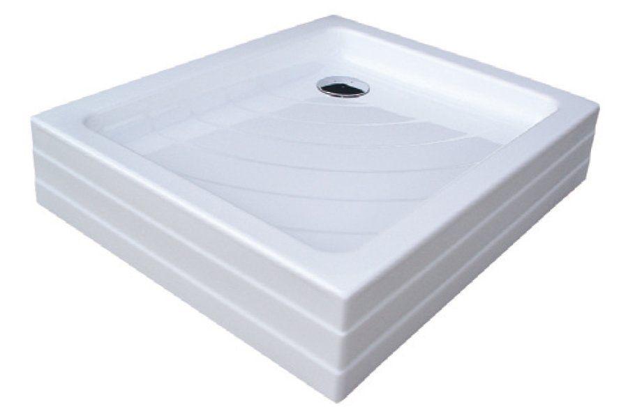RAVAK KASKADA Aneta PU, 75 x 90 cm-es téglalap alakú akril zuhanytálca, antibakteriális felület, fehér A003701120