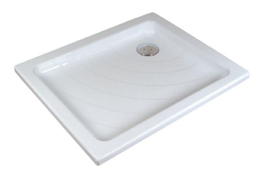 RAVAK KASKADA Aneta LA 75 x 90 cm-es téglalap alakú akril zuhanytálca, antibakteriális felület, fehér A003701220