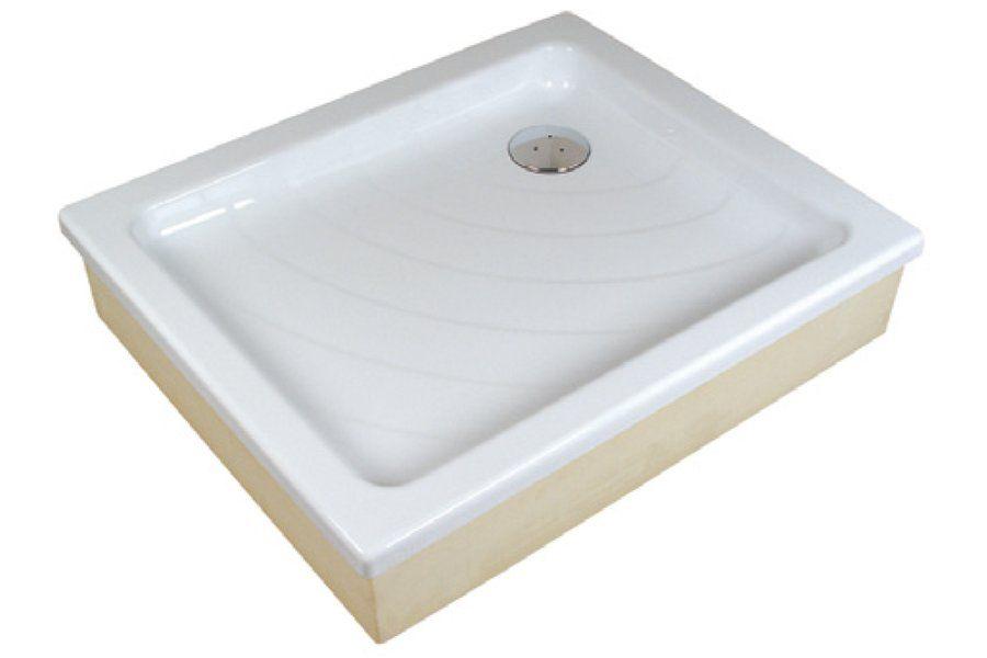 RAVAK KASKADA Aneta EX 75 x 90 cm-es, téglalap alakú akril zuhanytálca, antibakteriális felület, fehér, A003701320