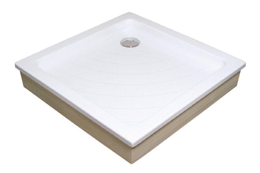RAVAK KASKADA Angela 80 EX négyzet alakú / szögletes, 80 x 80 cm-es, akril zuhanytálca, antibakteriális felület, fehér A004401320