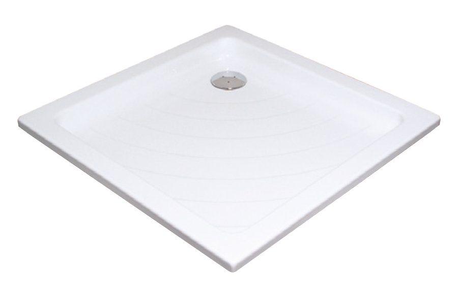 RAVAK KASKADA Angela 80 LA négyzet alakú / szögletes, 80 x 80 cm-es akril zuhanytálca, antibakteriális felület, fehér, A014401220