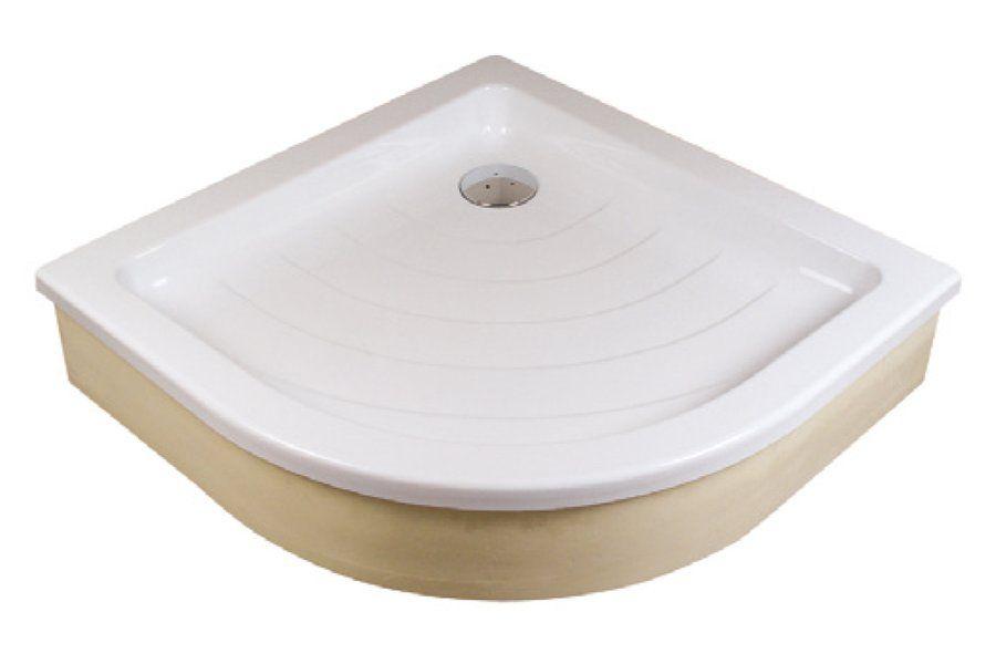 RAVAK KASKADA Ronda 80 EX negyedköríves / íves 80,5 x 80,5 x 18,5 cm-es akril zuhanytálca, antibakteriális felület, fehér / A204001320