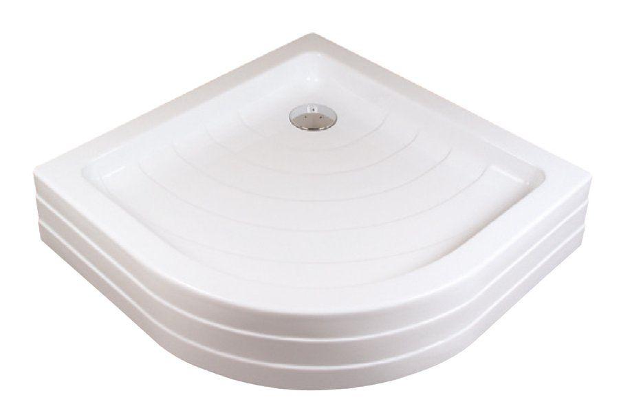 RAVAK KASKADA Ronda 90 PU negyedköríves / íves 90 x 90 cm-es akril zuhanytálca, antibakteriális felület / fehér / A207001120