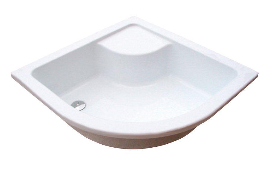 RAVAK Sabina 80 LA mélyülőkés negyedköríves akril zuhanytálca / felfalazáshoz vagy besüllyesztéshez / minikád / antibakteriális felület/ fehér / A214001020