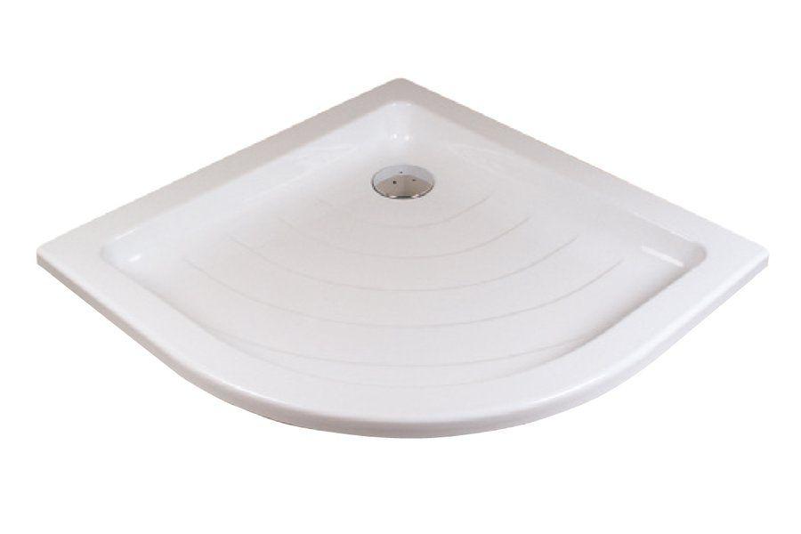 RAVAK KASKADA Ronda 90 LA negyedköríves / íves 90 x 90 cm-es akril zuhanytálca, antibakteriális felület / fehér / A217001220