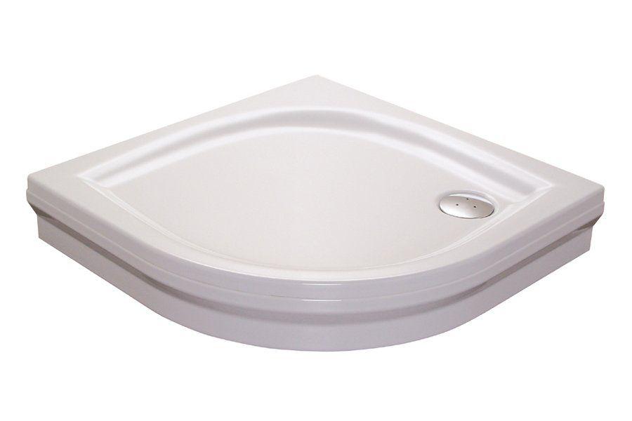 RAVAK GALAXY Elipso 80 PAN negyedköríves zuhanytálca, 80 x 80 x 70 cm-es, antibakteriális felület / fehér / A224401410