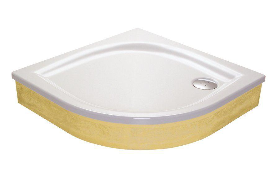 RAVAK GALAXY Elipso 90 EX negyedköríves zuhanytálca, 90 x 90 x 70 cm-es, antibakteriális felület / fehér / A227701310