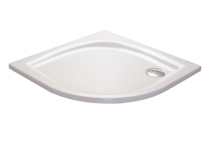 RAVAK GALAXY Elipso 100 LA negyedköríves zuhanytálca, 100 x 100 x 70 cm-es, antibakteriális felület / fehér / A22AA01210