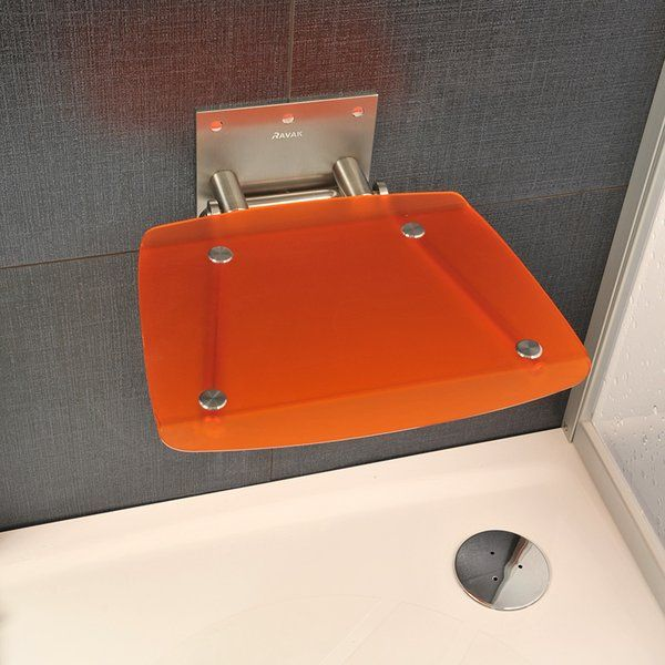 RAVAK OVO-B ORANGE Zuhanykabin ülőke / narancs / B8F0000017