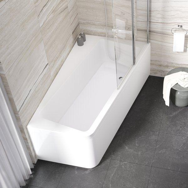 RAVAK 10° akril fürdőkád 160 x 95 cm-es / jobbos / 10 fok / snowwhite / hófehér / P fehér, C841000000