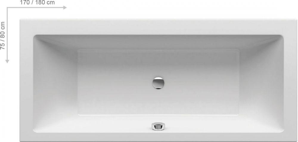 RAVAK Formy 01 akrilkád / kád, 180 x 80 cm-es, fehér, szögletes / C881000000 Újdonság!