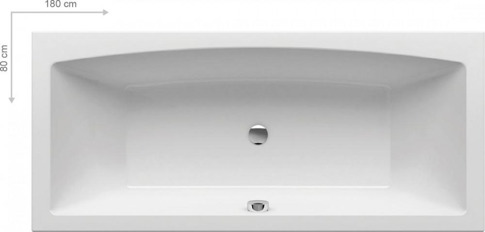 RAVAK Formy 02 akrilkád / kád, 180 x 80 cm-es, fehér, szögletes / C891000000 Újdonság!