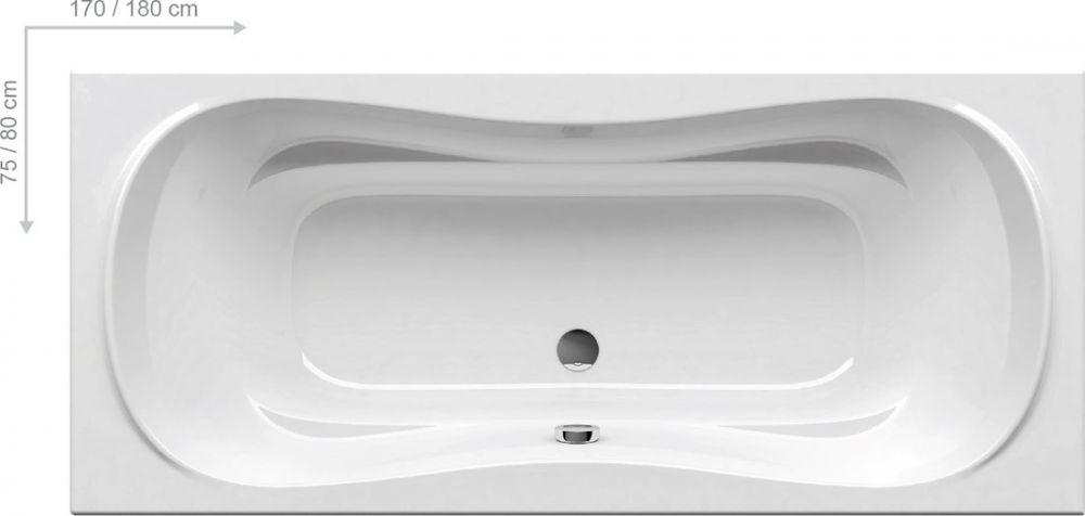 RAVAK CAMPANULA II Szögletes fehér akrilkád / kád, 180 x 80 cm-es  / CB21000000
