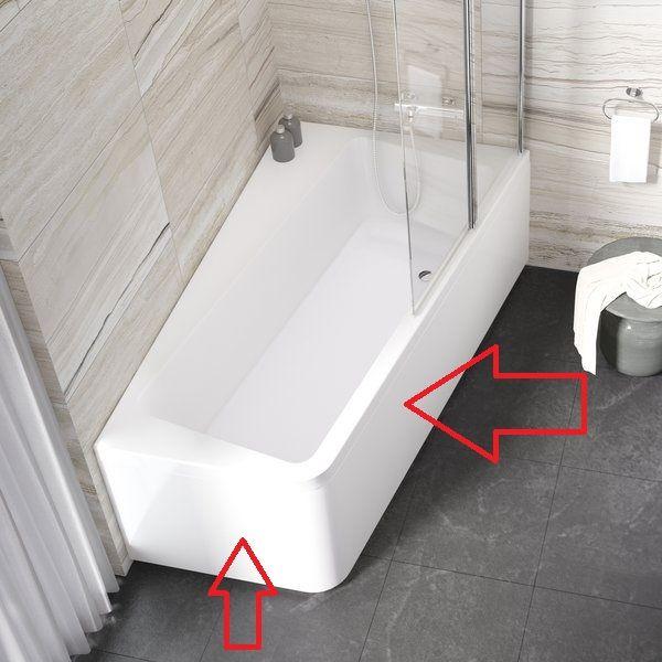 RAVAK 10° 'A' előlap 170 / Előlap 170x100 cm-es 10° akril fürdőkádhoz / balos / 10 fok / snowwhite / hófehér / cikkszám: CZ81100A00