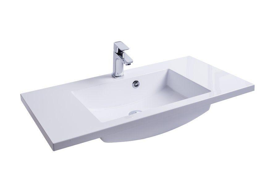 RAVAK Comfort 900 mosdó nyílással / furattal / 900 x 490 mm-es / 90 x 49 cm-es, fehér, cikkszám: SXJS0000001