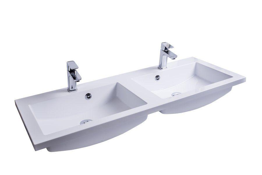 RAVAK Comfort Duo 1200 duplamosdó / dupla mosdó / nyílással / furattal / 1200 x 490 mm-es / 120 x 49 cm-es, fehér, cikkszám: SXJS0000002