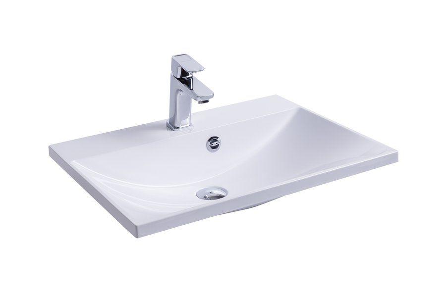 RAVAK Flat 600 mosdó / nyílással / furattal / 600 x 460 mm-es / 60 x 46 cm-es, fehér, cikkszám: SXJS0000007
