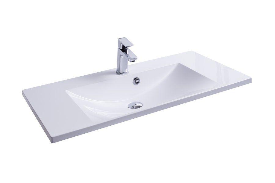 RAVAK Flat 900 mosdó / nyílással / furattal / 900 x 460 mm-es / 90 x 46 cm-es, fehér, cikkszám: SXJS0000008