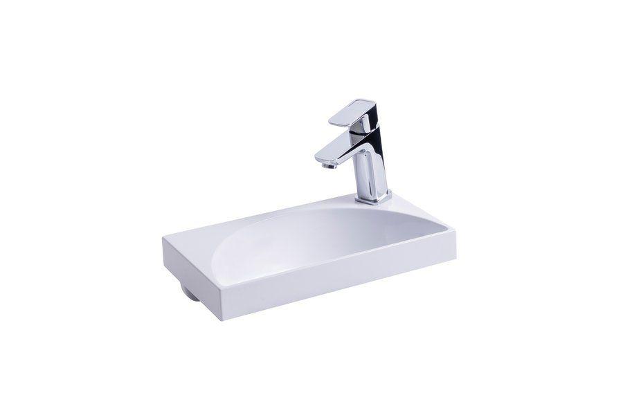 RAVAK Rainbow Mini 400 mosdó / nyílással / furattal / 400 x 220 mm-es / 40 x 22 cm-es, fehér, cikkszám: SXJS0000010
