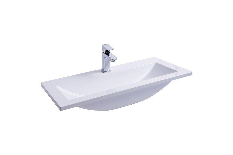 RAVAK Clear Wall 800 mosdó / nyílással / furattal / 800 x 400 mm-es / 80 x 40 cm-es, fehér, cikkszám: SXJS0000011