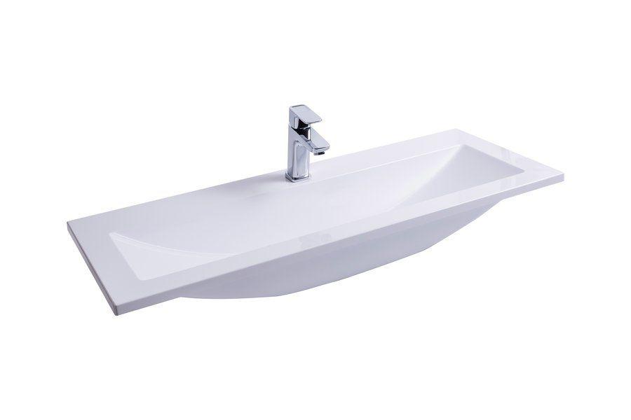 RAVAK Clear Wall 1000 mosdó / nyílással / furattal / 1000 x 400 mm-es / 100 x 40 cm-es, fehér, cikkszám: SXJS0000012
