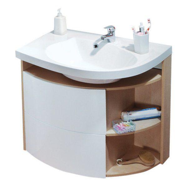 RAVAK SDU Rosa Comfort szekrény mosdó alá balos (nyír/fehér) / Cikkszám: X000000162