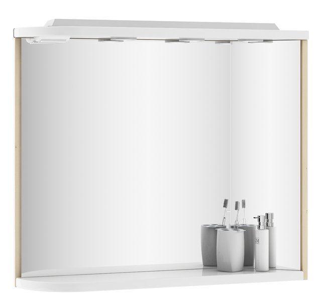 RAVAK Praktik M 780 fürdőszoba tükör, 78x16x68 cm, jobbos (fehér/fehér) / Cikkszám: X000000332