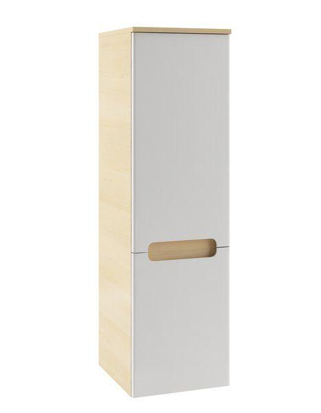RAVAK SB-350 Classic oldalsó magas szekrény, balos (fehér/fehér) / Cikkszám: X000000356