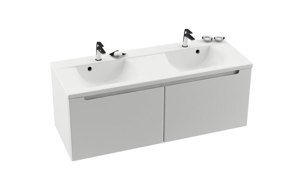 RAVAK SD 1300 szekrény a Classic dupla mosdó alá (fehér/fehér) / Cikkszám: X000000422