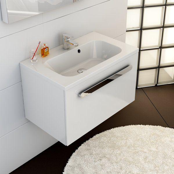 RAVAK SD 800 Chrome szekrény a mosdó alá (fehér/fehér) / Cikkszám: X000000534