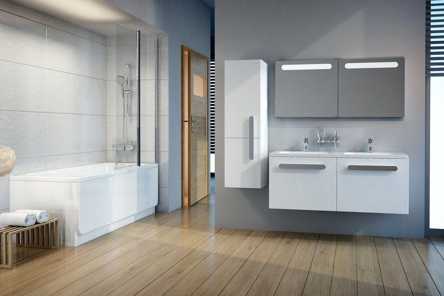 RAVAK SB Chrome 350 szekrény, fürdőszobabútor 35 x 37 x 120 cm-es Jobbos (fehér/fehér) / Cikkszám: X000000543